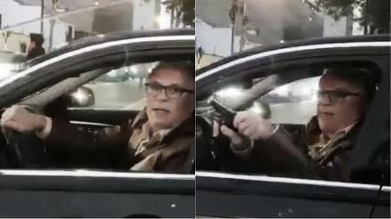 Sucamec canceló la licencia y notificó al conductor que amenazó con un arma a otro