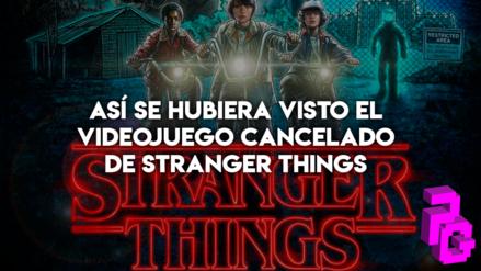 Así se hubiese visto el videojuego cancelado de Stranger Things