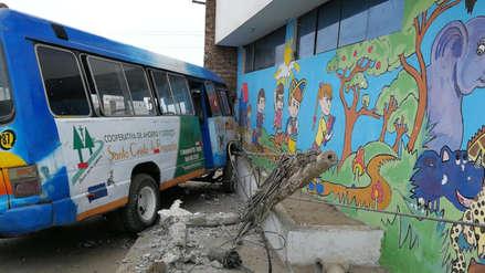 Escolares se salvan de morir tras accidente de tránsito en Trujillo