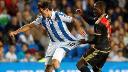 Rayo Vallecano con gol de Luis Advíncula empató ante Real Sociedad en la Liga de España
