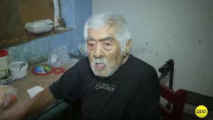 San Martín de Porres: anciano en completo abandono fue trasladado a un albergue de la Beneficencia