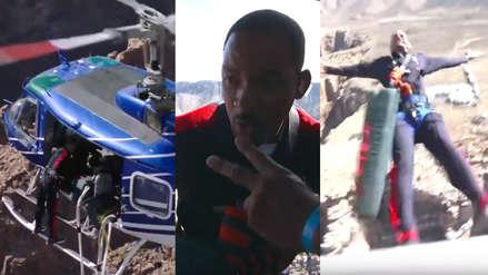 Will Smith celebró sus 50 años saltando desde un helicóptero [VIDEO]