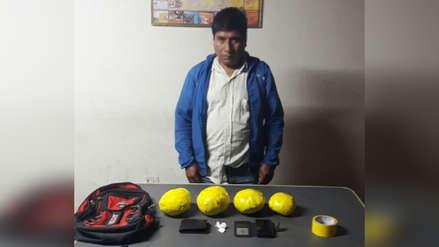 Detienen a hombre con cuatro kilos de droga en Otuzco