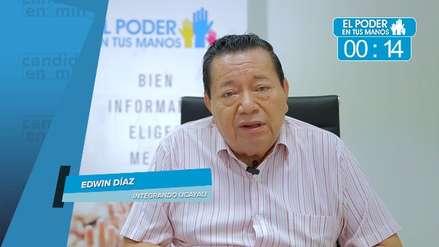 Elecciones 2018: Edwin Díaz expuso sus propuestas en seguridad ciudadana, obras y gestión de desperdicios