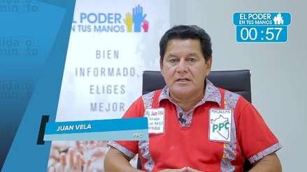 Elecciones 2018: Juan Vela expuso sus propuestas en seguridad ciudadana, obras y gestión de desperdicios