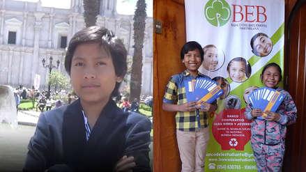 """""""Estoy generando un cambio"""": Niño arequipeño de 13 años dirige banco que tiene más de 2 mil clientes"""