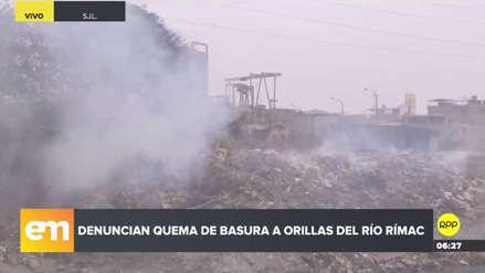 Vecinos de San Juan de Lurigancho denunciaron constante quema de basura en el río Rímac