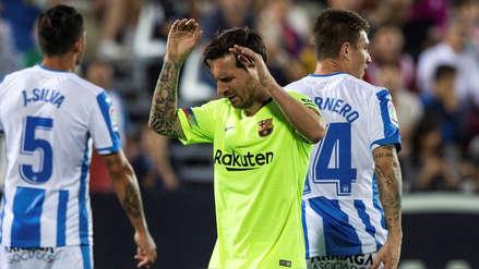 Barcelona: Leganés le hizo dos goles en 68 segundos