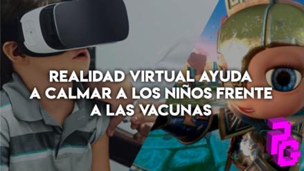 Realidad virtual ayuda a calmar a los niños frente a las vacunas