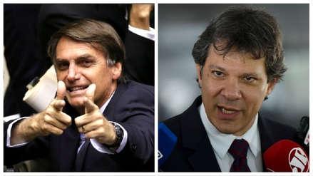 Jair Bolsonaro y Fernando Haddad lideran disputa por presidencia brasileña, según sondeo