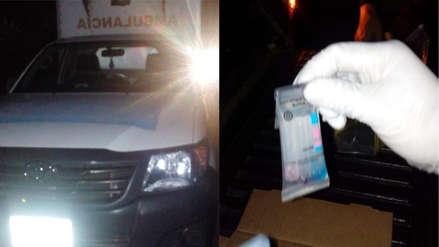 Cinco delincuentes transportaban cocaína en una ambulancia oficial en Guatemala