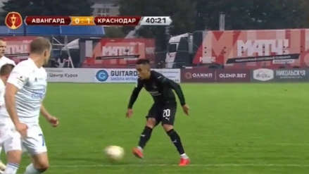 Christian Cueva se lució con pase de taco en triunfo de Krasnodar (VIDEO)