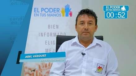 Elecciones 2018: Abel Vásquez Panduro expuso sus propuestas en turismo, salud y actividades ilícitas
