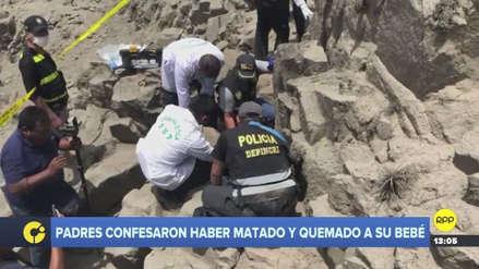 La Policía halló el cuerpo de la bebé asesinada y quemada por sus padres en Huachipa
