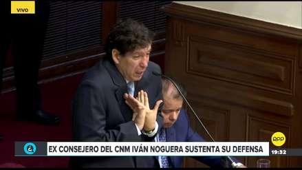 Iván Noguera lloró durante su defensa ante la Comisión Permanente del Congreso
