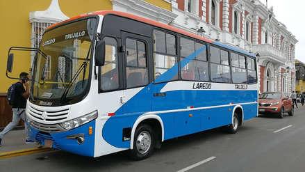 Buses entrarán en circulación en ruta Laredo-Trujillo