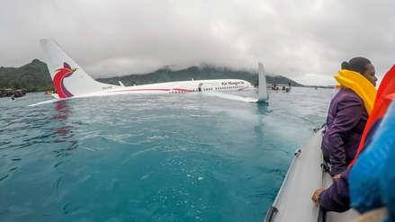Un avión de línea cayó en una laguna de una isla de Micronesia