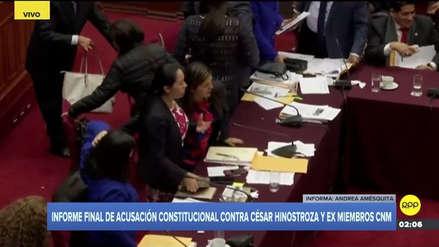 Congresistas Arce y Beteta tuvieron altercado al finalizar la sesión de la Comisión Permanente