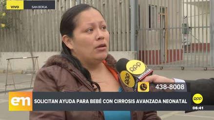 Una madre pide ayuda para operar en el extranjero a su bebé con cirrosis