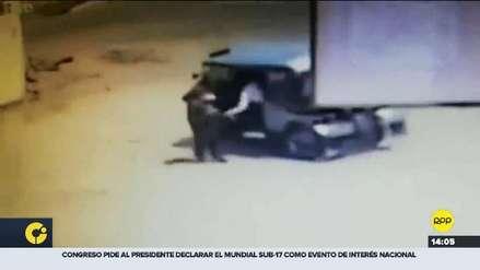 Ate: Mujer fue arrastrada varios metros por delincuentes que iban en mototaxi