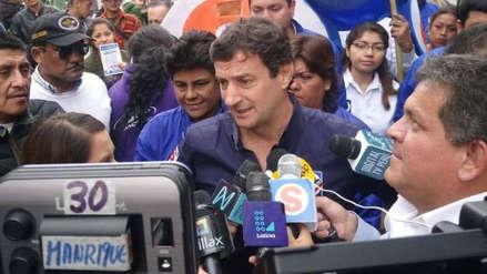 Reggiardo cuestionó la encuesta que le da empate técnico con Urresti y Muñoz