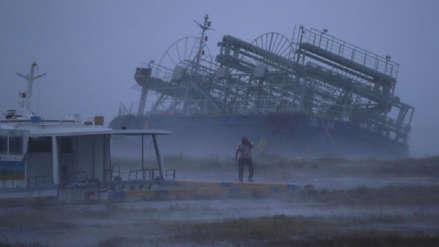 El paso del tifón Trami dejó dos muertos y decenas de heridos en Japón