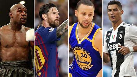 Mayweather, Messi, Cristiano Ronaldo y los 10 deportistas mejor pagados de 2018, según Forbes