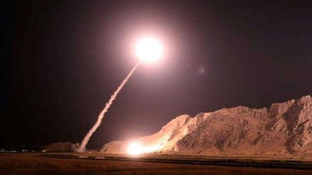 Irán atacó con misiles un