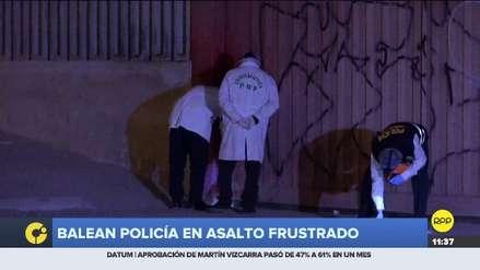 Delincuentes balearon a policía que frustró asalto a agencia bancaria en Villa El Salvador