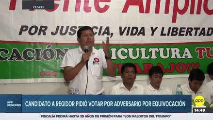 Cusco: un candidato de La Convención se confundió y pidió votar por su rival