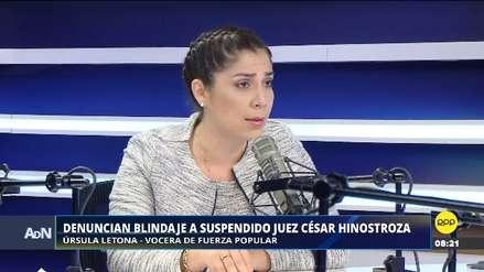 """Letona dijo que Pacori """"ha hecho copia y pega"""" del informe reservado de la Fiscalía contra Hinostroza"""
