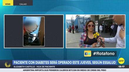 Un anciano con diabetes será operado en el Hospital Almenara tras hacer público su caso en RPP