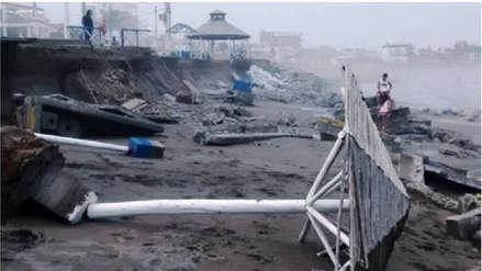Escolares realizan muestra fotográfica sobre erosión costera