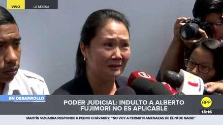 Keiko Fujimori entre lágrimas: