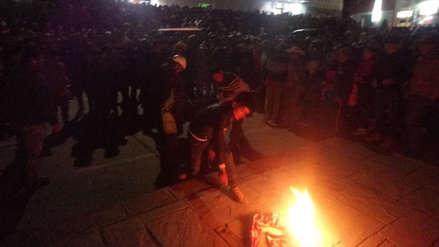Cusco | Turba quemó vivo a un presunto delincuente acusado de robar autopartes