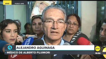 Aguinaga dijo que Fujimori sufrió una caída de presión arterial tras anulación de indulto