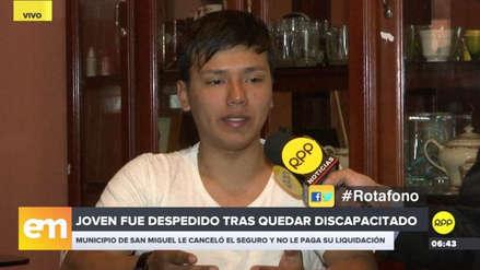 Un sereno de San Miguel denunció despido arbitrario tras sufrir un accidente