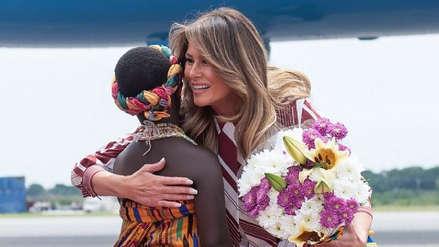 Melania Trump recorre Ghana, la primera escala de su gira por África