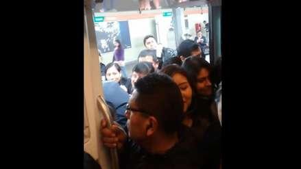 Usuarios reportan problemas en la línea 1 del Metro de Lima