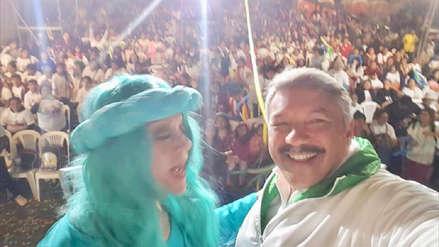 Alberto Beingolea cierra campaña electoral con Yola Polastry en Surquillo