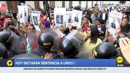 Caso Urresti: simpatizantes y opositores se enfrentaron en los exteriores de la Sala Penal Nacional
