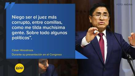 """""""¿Por qué quieren entregar mi cabeza?"""": Las frases que dejó César Hinostroza en su presentación en el Congreso"""