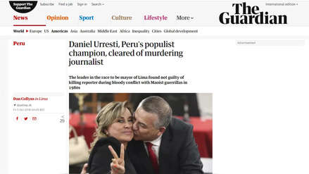 Así informó la prensa internacional la absolución de Daniel Urresti del asesinato de Bustíos
