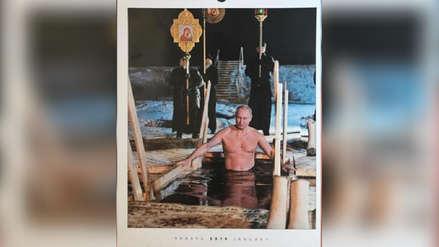 Vladimir Putin en nuevo calendario 2019: Desde bañándose en un lago hasta posando con un cachorro