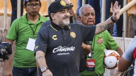 Diego Maradona tras ganar con Dorados: