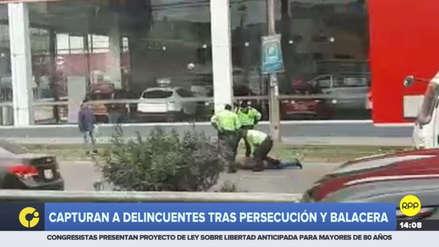 Policías capturaron a delincuentes tras persecución y balacera en Vía de Evitamiento