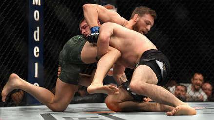 McGregor perdió ante el campeón ruso Khabib en una lucha con final vergonzoso  | FOTOS y VIDEOS
