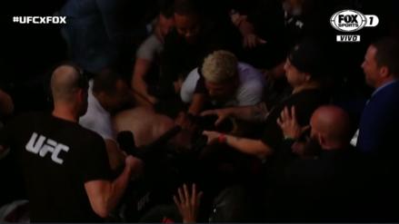 Khabib desató una trifulca tras ganar a McGregor en la UFC 229