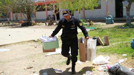 Lambayeque: colegio de Chóchope quedó destrozado tras elecciones