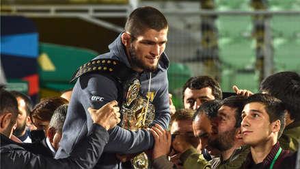 UFC: Khabib Nurmagomedov es recibido como un héroe en Daguestán